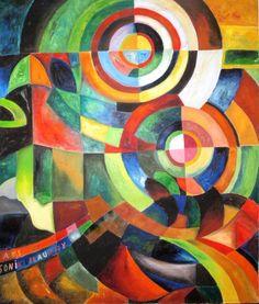 Sandra Ceballos - Absolut Delaunay, 1995 Width: 112xcm Height: 132cm Medium: Painting - Oil on Canvas
