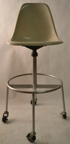 Charles Eames; Fiberglass and Steel Drafting Stool for Herman Miller, 1960s.