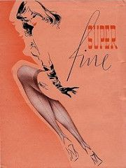 Super fine seamed stockings 1950 (fashionmylegs) Tags: stockings gesicht ad cover package verpackung nylon nylons zeichnung 50er sitzend strmpfe