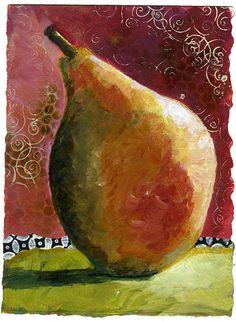 Art du Jour by Martha Lever: Blue Pear etc...