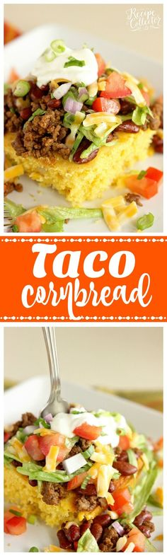 Taco Cornbread - Change up your taco night using cornbread for a delicious new twist!