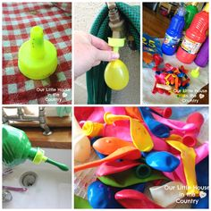 paint filled water balloons messy outdoor summer fun our little house in the