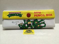 (TAS004105) - Used Teenage Mutant Ninja Turtles Mini Pencil Box & I used to LOVE these vintage Japanese pencil cases - - - filled ... Aboutintivar.Com