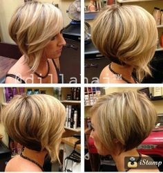 Thinking about doing a short aline Bob again.. Luv this!