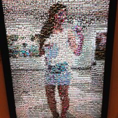 """""""This was a really cool photo mosaic manipulation at the San Diego Museum of Photography. Little pictures from 7 million photos of random people would…"""" Really Cool Photos, Photo Mosaic, Interactive Installation, Human Connection, San Diego, Reflection, Museum, Quilts, Random"""