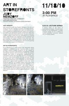 Interior Design Lecture Series, Fall 2010.