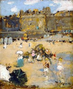 The Beach, Saint-Malo by James Wilson Morrice (Canada)