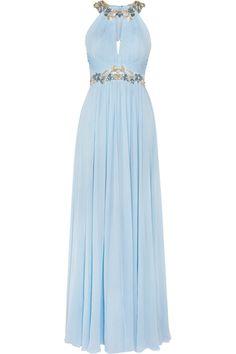Marchesa Notte - Embellished silk-chiffon gown 8c5f7af6d