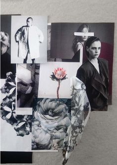 Fashion Moodboard - fashion design research & concept development; creative process // Amy Dee