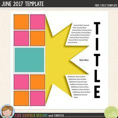 471 best Free Digital Scrapbook templates images on Pinterest
