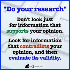 Always a good idea to do the research!
