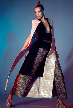 "Duchess Dior: ""Jap Mania"" by Jamie Nelson for Glamour Italia April 2015 Unique Fashion, Fashion Art, Editorial Fashion, High Fashion, Fashion Beauty, Fashion Design, Street Fashion, Fashion Poses, Fashion Outfits"