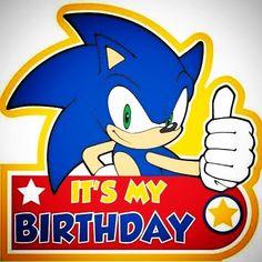 Sonic The Hedgehog Birthday Badge: Más Sonic Birthday Parties, Sonic Party, Birthday Badge, Boy Birthday, Happy Birthday, Birthday Ideas, Sonic The Hedgehog, Hedgehog Cake, Hedgehog Birthday