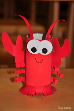 lobster, paper roll, craft