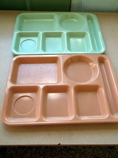 Our school lunch were on these kind of trays. And they made the food right there in the school kitchen.