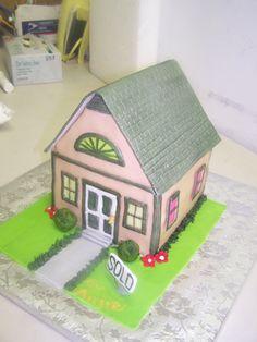 cake with a house | House cake