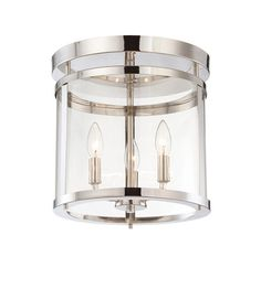 $110 Savoy House Penrose 3 Light Semi-Flush Mount in Polished Nickel 6-1043-3-109 #lightingnewyork #lny #lighting