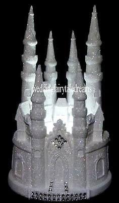 LIGHTED CINDERELLA CASTLE FAIRYTALE WEDDING CAKE TOPPER #22