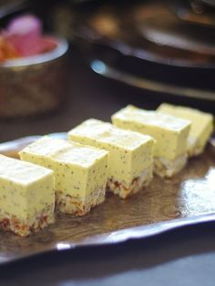 Raw Lemon Poppy Seed Slices (Free From: gluten & grains, dairy, eggs, refined sugar)