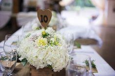 Rustic DIY Wedding Centrepiece