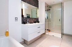 North London Townhouse Interior Design by LLI Design Small Basement Bathroom, Add A Bathroom, Bathroom Floor Plans, Bathroom Layout, Bathroom Ideas, Basement Bedrooms, Rustic Basement, Stone Bathroom, Ensuite Bathrooms