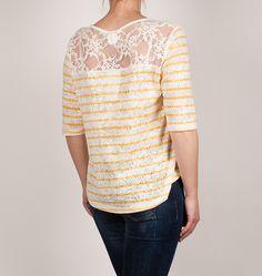 Camiseta rayas amarillas OXMO crochet