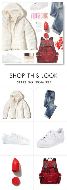 """""""Puffed Up..."""" by desert-belle ❤ liked on Polyvore featuring Hollister Co., Wrap, adidas, NARS Cosmetics, Chanel, Burberry and La Mer"""