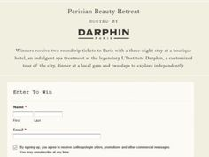 Anthropologie Parisian Beauty Retreat Sweepstakes – Women Only
