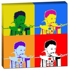 Fotobewerking ontwerp op canvas in pop-art klassieke Andy Warhol stijl. Bestel dit ontwerp met jouw foto op www.retrobengel.nl Inclusief gratis proefdruk!