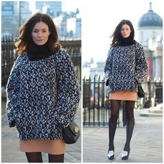 Hedvig ... - Yves Saint Laurent Knitted Jumper, H&M Leather Skirt, Céline Shoes - A great knit | LOOKBOOK