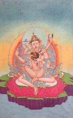 Buddha and his female consort in Yab Yum