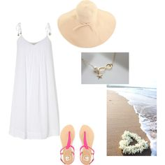 Beach outfit, created by haydenmaxon on Polyvore