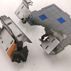 Destroyed forward base wall section! On our current Kickstarter! #LaserTerrain #warhammer40k #wargaming #wargamesterrain #terrain #infinitythegame #infinitythegameterrain #kickstartercampaign #lasercut