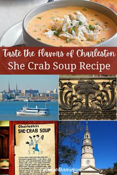 The best way to taste southern flavors. Recreate a Charleston favorite with this classic recipe. | What to eat in Charleston | Best southern food | She Crab soup recipe | Traditional Southern… More