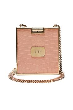 Luscious soft pink gold and leather shoulder bag.  Style straight from 1960.