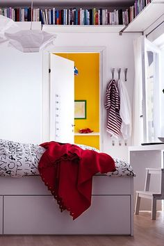 Ceiling Bookshelves - Small Room Decorating (houseandgarden.co.uk)  Small Spaces, Huge Inspiration