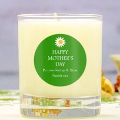 Personalised Mother's Day Scented Candle - Daisy Design