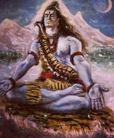 shiva in meditation Shiva Shakti, Shiva Art, Hindu Art, Images Of Shiva, Shiva Meditation, Lord Shiva Hd Wallpaper, Lord Mahadev, Nataraja, Krishna Painting