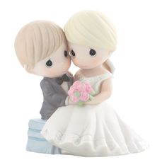 What can be more adorable than Precious Moments wedding cake toppers! With their teardrop eyes and faith inspired designs, these cake toppers will be the prefect expressions of your love on your wedding day. We also have Precious Moments Quinceaneras and Precious Moments Wedding, Disney Precious Moments, Precious Moments Figurines, Diy Wedding Gifts, Unique Wedding Cakes, Unique Weddings, Wedding Ideas, Wedding Stuff, Wedding Goals
