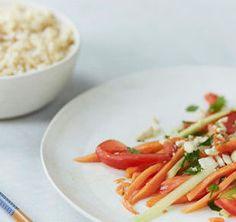 Papaya Salad - tip: avoid overripe or soft papayas