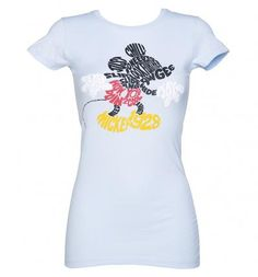 Ladies Mickey Mouse Words T-Shirt From Jack Of All Trades : TruffleShuffle.com #shirt #offduty #women #covetme