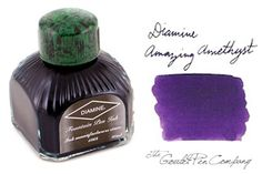 Yum. Purple ink. I may just get this wild and crazy. A beautiful ink from Diamine. Via Goulet Pen Company.