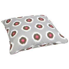 Ikat Pink Dots Corded Outdoor/ Indoor Large 28-inch Floor Pillow | Overstock.com Shopping - Big Discounts on Outdoor Cushions & Pillows