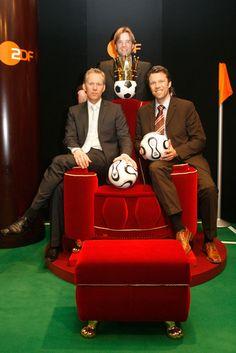 Jürgen Klopp - ZDF- Fußballexperten: Jürgen Klopp (M.) mit Johannes B. Kerner (l.) und Urs Meier (Foto: Public Address
