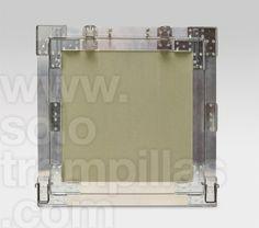 Trampilla de yeso laminado en placa de 13 mm, detalle trasero