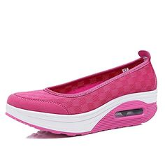 Paopzmlha Sandals Womens Slip on Platform Shape Up Breathable Fashion Sneaker Sport Shoes Rose RedAsia 37US 6 -- Find out more about the great product at the image link.(This is an Amazon affiliate link and I receive a commission for the sales)