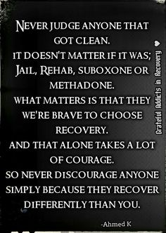 Recovery Is Different For Everyone