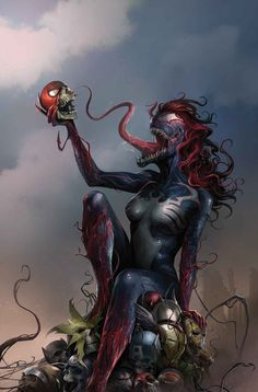 Venom #151 (2017) Mary Jane Venomized Variant Cover by Francesco Mattina