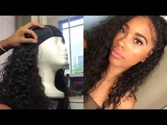 How to make a wig Ft. The Vanity Box Malaysian Curly Hair - YouTube