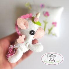 Unicorn PDF sewing pattern-DIY-Flying by LittleThingsToShare